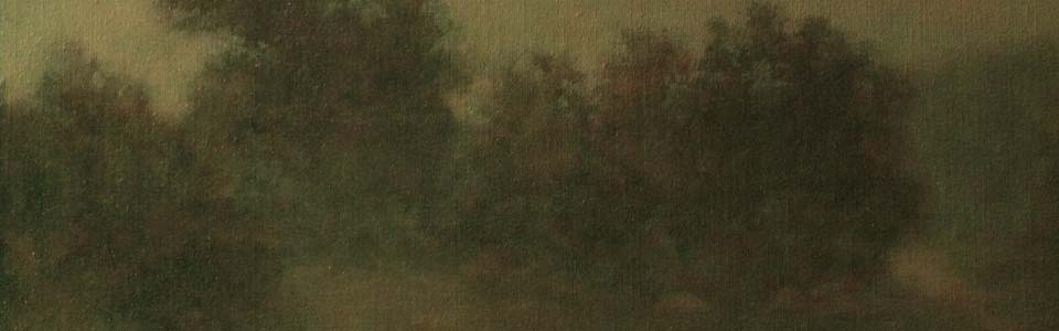"""Evening Copse"" Detail"
